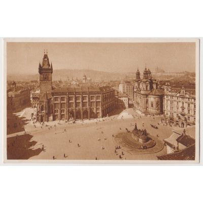 Bohemia and Moravia - postcard Prague Old Town Square