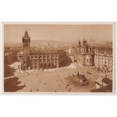 Bohemia and Moravia - postcard Prague Old Town Square