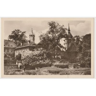 Československo - pohlednice Teplice, zámecká zahrada