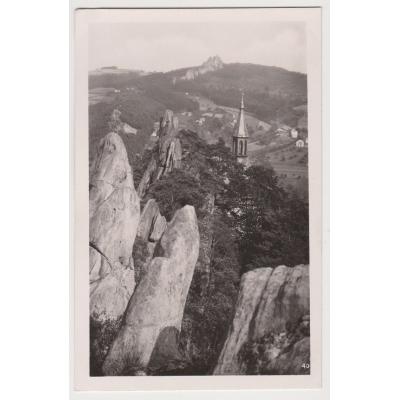 Böhmen und Mähren - Tschechische Paradies Postkarten, Klein Felsen, Pantheon 1941
