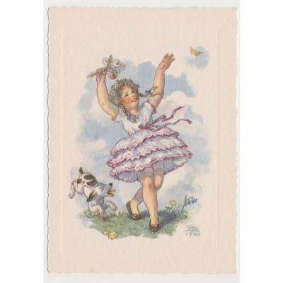 Marie Fischerová - Kvěchová: postcard Children 1941