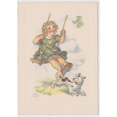 Marie Fischerová - Kvěchová: pohlednice Děti 1941