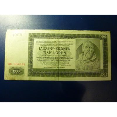 1000 korun 1942 Cha