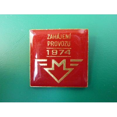 Československo - odznak Zahájení provozu metra 1974