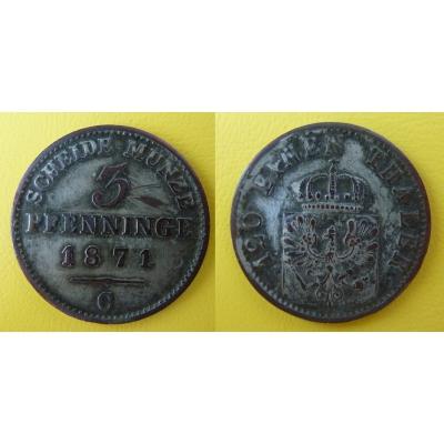 Deutschland - 3 Pfenninge 1871 C