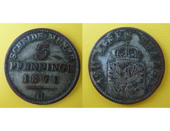 Německo - 3 feniky 1871 C