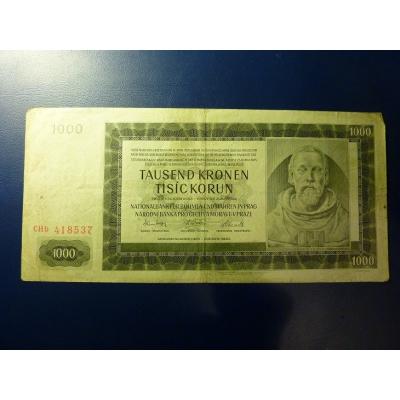1000 korun 1942 CHb