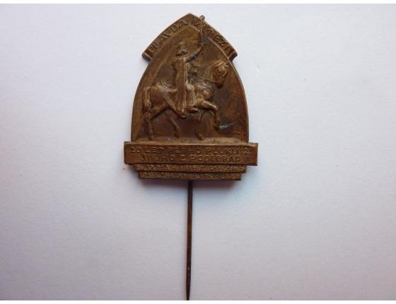 Československo - odznak 2. střeleckého pluku Jiřího z Poděbrad 1936 - 20. výročí založení pluku