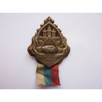Československo - odznak Sjezd dobrovolných hasičů Československa v Praze 1923