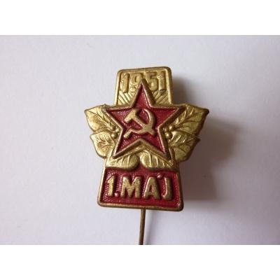 Tschechoslowakei - ein Abzeichen der 1. Mai 1951