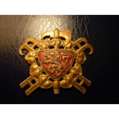 Československo - Hasičský odznak na helmu 1922 originál