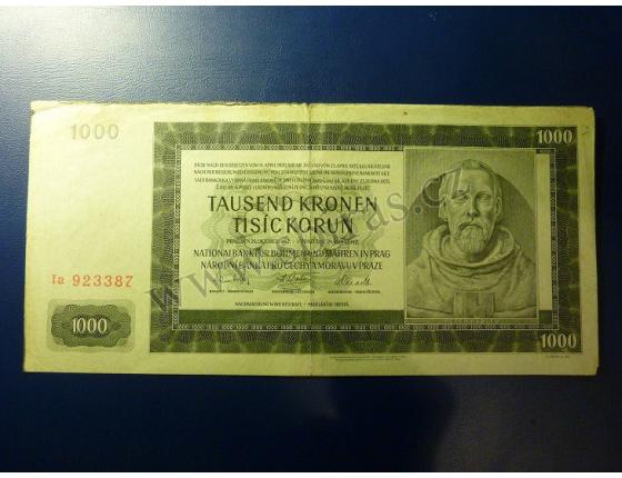 1000 korun 1942, II. vydání, série Ia