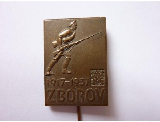Československo - odznak 20. výroči bitvy u Zborova 1937