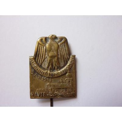 Československo - odznak Slet sokolské župy Barákovy v Lysé nad Labem 1948