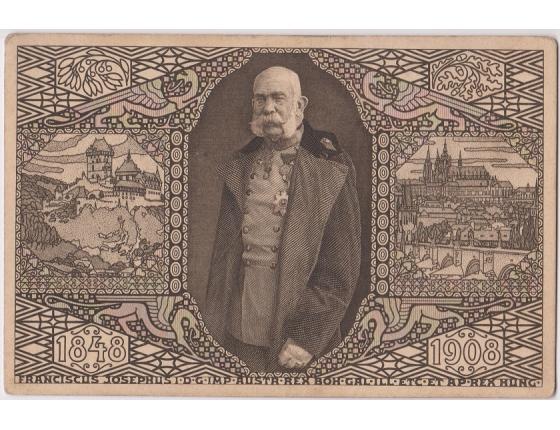 Pohlednice: Rakousko-Uhersko - Jubilejní výstava 1908