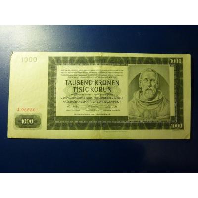 1000 korun 1942 J