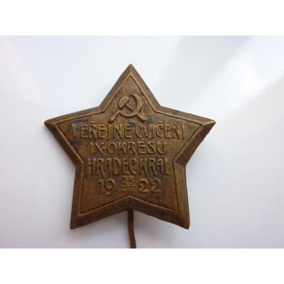 Československo - odznak Veřejné cvičení 1922