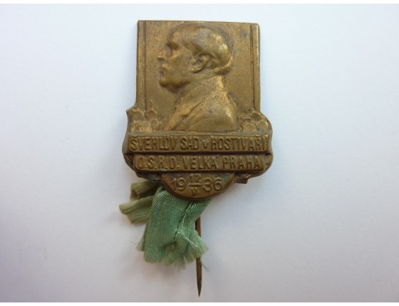 Československo - odznak Švehlův sad v Hostivaři