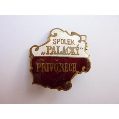 Czechoslovakia - badge Association Palacky Přívory near Melnik