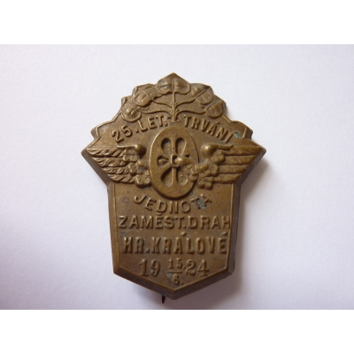 Czechoslovakia - 25 years of staff railway inHradec Kralove 1924
