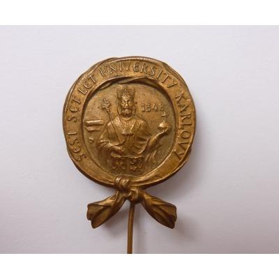 Československo - odznak 600 let od založení Karlovy Univerzity 1948