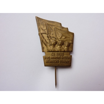 Czechoslovakia - badge Cs. Congress for a peaceful resolution of the German question, Prague 1953