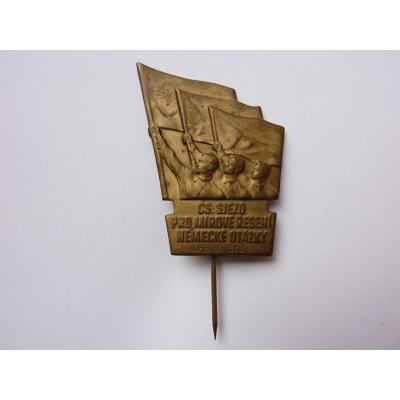 Tschechoslowakei - Abzeichen Cs. Kongress für eine friedliche Lösung der deutschen Frage, Prag 1953