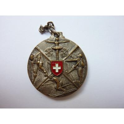 Schweiz - historische Sport Medaillon