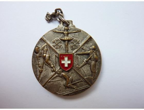 Švýcarsko - historický sportovní medailon