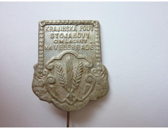 Československo - odznak Krajinská pouť Stojanovy omladiny na Velehradě