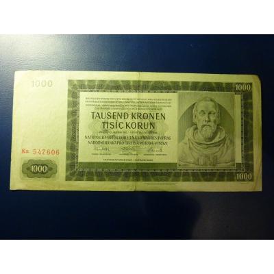 1000 korun 1942 Ka