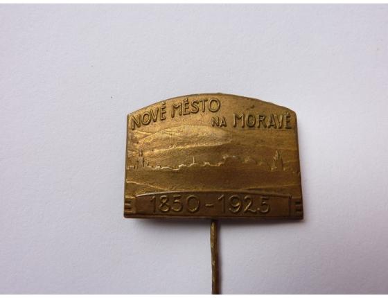 Československo - odznak Nové město na Moravě, 75. výročí založení 1925