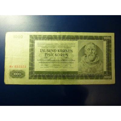 1000 korun 1942, II. vydání, série Ka
