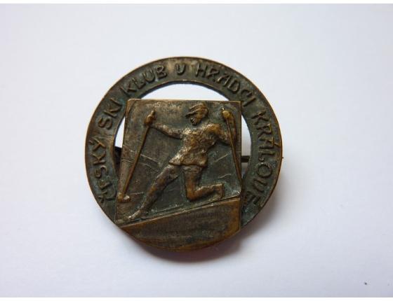 Československo - odznak Český SKI klub v Hradci Králové