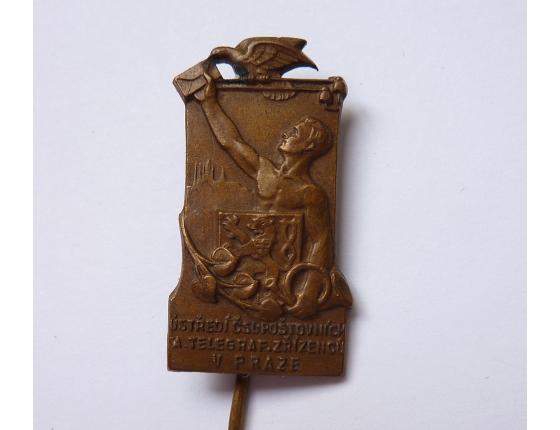 Československo - odznak Ústředí čsl. poštovních a telegrafních zřízenců Praha