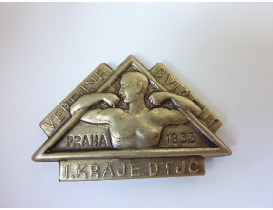 Československo - odznak Veřejné cvičení 1933, Svaz dělnických tělocvičných jednot