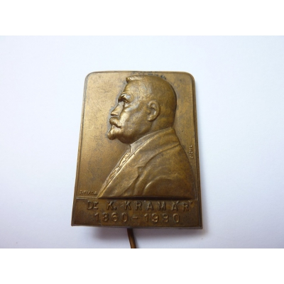 Československo - odznak Dr. Karel Kramář 1860-1930