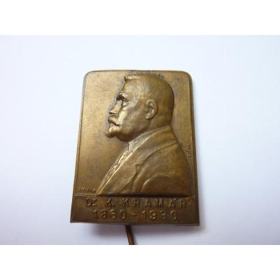 Czechoslovakia - badge Dr. Karel Kramar 1860-1930