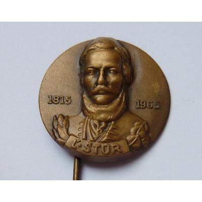 Československo - odznak Ľudovít Štúr 1815-1965