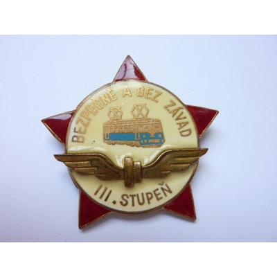 Československo - odznak Bezpečně a bez závat III. stupeň ZUKOV
