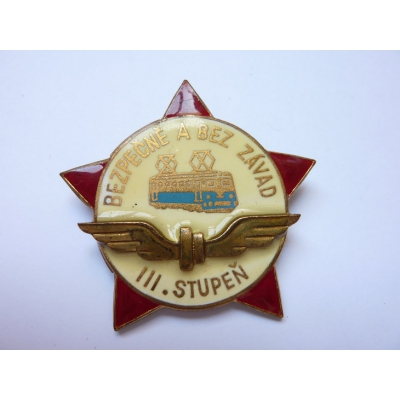 Czechoslovakia - safely and without defects 3st degree ZUKOV badge