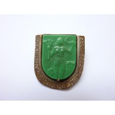 Czechoslovakia - regional exhibitions in Nova Paka 1935 glass badge