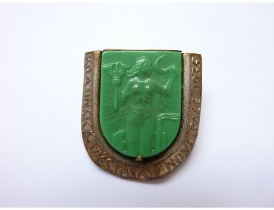 Československo - odznak skleněný Krajinský výstava v Nové Pace 1935