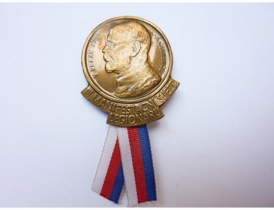 Československo - odznak III. Manifestační sjezd legionářů v Praze 1935