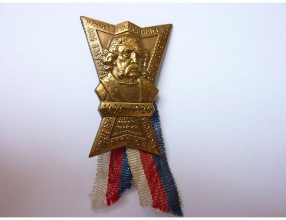 Československo - odznak 500. výročí úmrtí Jana Žižky 1924
