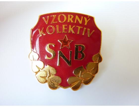 Československo - odznak Vzorný kolektiv Sboru národní bezpečnosti 2. stupeň
