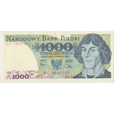 Polsko - bankovka 1000 zlotych 1982