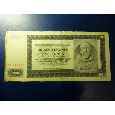 1000 korun 1942 Kb
