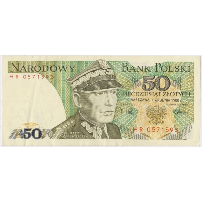 Poland - 50 zlotych 1988 banknote