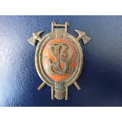 Fire brigade helmet badge
